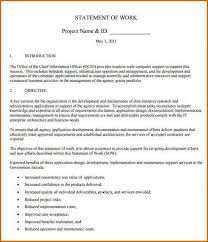 5 statement of work template authorizationletters org