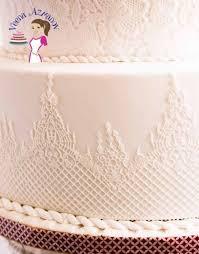 white wedding cake lotus inspired lace white wedding cake veena azmanov