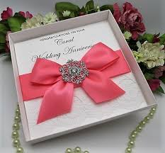 35 year wedding anniversary coral wedding anniversary personalised luxury boxed coral 35
