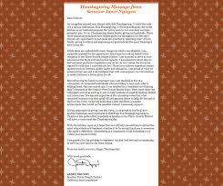 thanksgiving message from senator janet like cho việt nam