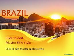 free brazil ppt template