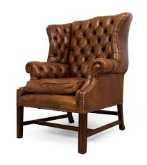 Restoration Hardware Leather Chair Chair Cognac Leather Wingback Chair At 1stdibs Ebay Leatherwingcha
