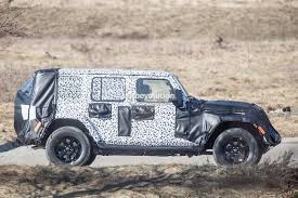 jeep wrangler pickup spotted testing 2018 jeep wrangler jl sheds some camo during final testing