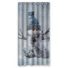 snowman curtains kitchen holiday shower curtains christmas shower curtain u0026 matching