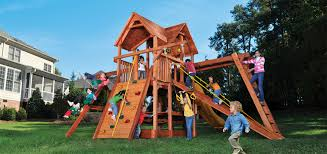 woodplay playsets the original redwood playset