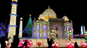 magical winter lights lantern festival setting up in la marque