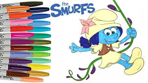 smurfs the lost village smurf lily coloring book page how to color