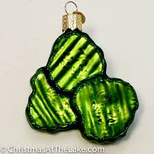 pickle ornament at the lake