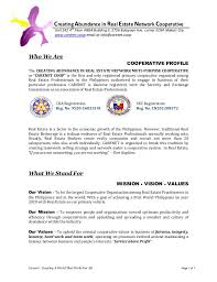 Sample Resume In The Philippines by Carenet Multi Purpose Cooperative Profile 2013