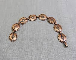 copper link bracelet images Copper link bracelet etsy jpg