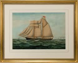 english watercolour and gouache of the sailing ship