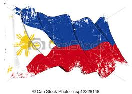 grunge flag of philippines grunge illustration of a waving