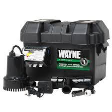 wayne esp15 battery back up 12 volt sump pump system amazon com