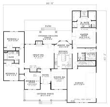 country style house plan 4 beds 3 50 baths 2261 sq ft plan 17 614