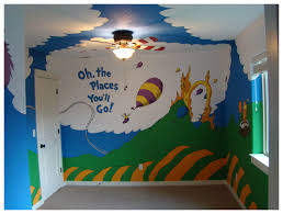 Kids Murals by New Dr Seuss Nursery Mural Completed End Of Year