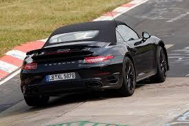 porsche turbo convertible spyshots 2014 porsche 911 turbo s cabriolet testing gtspirit