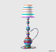 Interesting Lamps Fun Hookah Igor Mitin Design