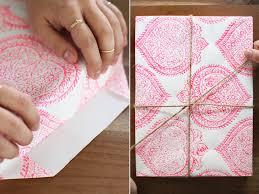 Japanese Wrapping Method by Diy Woodblock Printing