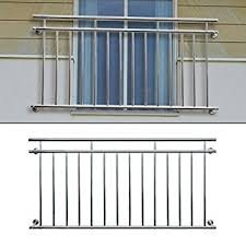 balkon gitter ecd germany französischer balkon 184 x 90 cm edelstahl glänzend