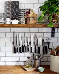 magnetic strips for kitchen knives farmhouse organizing ideas and diy s wood cabinets