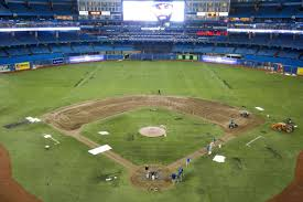 blue jays debut rogers centre all dirt infield on friday toronto