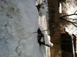 snow gunsmoke and knitting