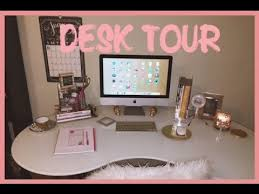 Fashionable Desk Accessories Wonderful Pretty Office Desk 2015 Desk Tour Office Within