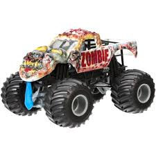 toy monster trucks racing wheels monster jam zombie vehicle walmart com