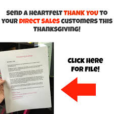send a heartfelt thank you to your direct sales hostesses