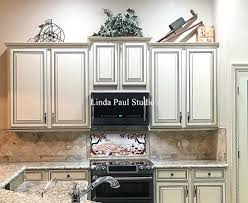 hand painted kitchen cabinets hand painted tile backsplash kitchen i painted our kitchen tile