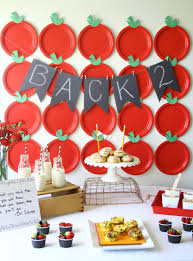 delicious breakfast party to celebrate back to with apple