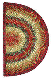 Half Circle Kitchen Rugs Graceland Jute Braided Rug Cottage Home Pertaining To Half Circle