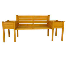Outside Benches Home Depot by Leisure Season Wooden Medium Brown Patio Planter Bench Pbb7821