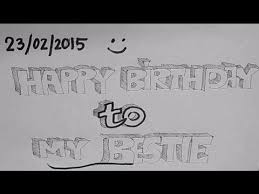 time lapse drawing best way to wish your best friend u0027s birthday