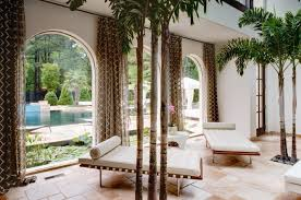 High Ceiling Curtains by Drapes Decorating Ideas Living Room Tropical With House Plants