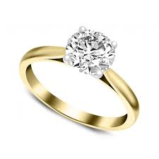 gold engagement rings uk cut 0 25ct diamond solitaire engagement ring in 18ct white gold