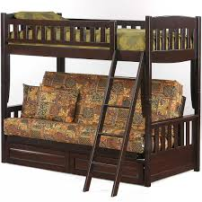 Bunk Bed With Sofa by Night And Day Cinnamon Twin Over Futon Bunk Bed In Medium Oak