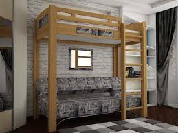 canape loft taupe lit mezzanine adulte pour l aménagement du petit appartement bedrooms