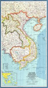 Map Of Laos 1965 Vietnam Cambodia Laos And Eastern Thailand Map Historical