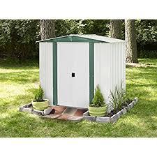 amazon com jaxpety 4 u0027 x 6 u0027 outdoor storage shed box steel utility