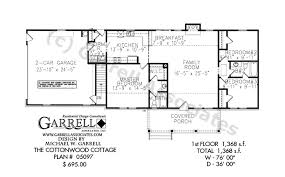 one level house plans with porch cottonwood cottage house plan active house plans