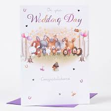 wedding day congratulations wedding card on your wedding day congratulations only 59p