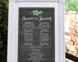 wedding program board wedding program chalkboard sign large wedding chalkboard