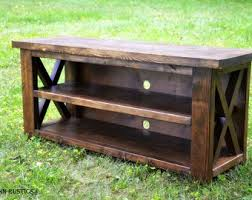 rustic x console table rustic x console etsy
