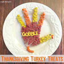 thanksgiving treats idea turkey shaped crafts unleashed