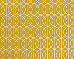 Upholstery Fabric Geometric Pattern Dark Yellow Bird Upholstery Fabric Modern Bird By Popdecorfabrics