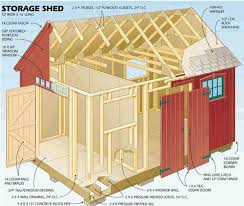 12 X 20 Barn Shed Plans 12 X 16 Storage Shed Plans Sheds Pinterest Storage Shed
