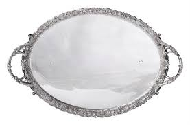 Silver Tray For Ottoman An Ottoman Turkish Silver Tray Of Sultan Abdulhamid Ii