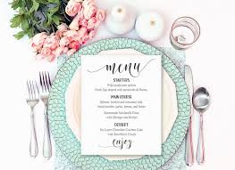 menu card templates templates bridal shower templates free together with