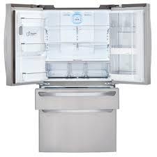lg bottom freezer french door refrigerator lg 29 7 cu ft super capacity 4 door french door refrigerator w